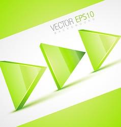 stylish 3d arrow vector image