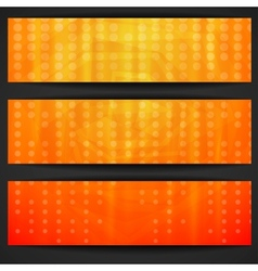 Summer Orange Banner vector image