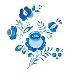 Traditional russian gzhel ornament vector image vector image