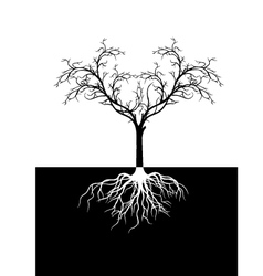 tree silhouette for you design vector image
