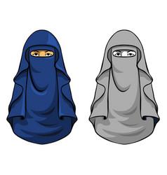 veil girl head vector image vector image