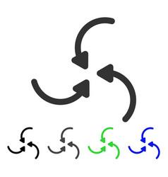 Vortex arrows flat icon vector