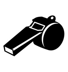 whistle icon simple black style vector image