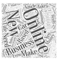 Would you like to Make Money Online Word Cloud vector image vector image