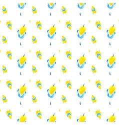 Yellow flowers patt 02 vector image vector image