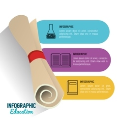 Infographic education with certificate graphic vector