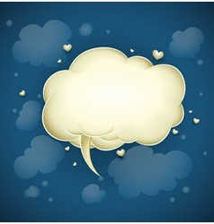 Cloud with greeting message vector