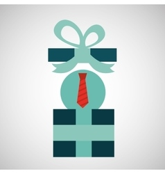 Gift father day with red tie vector