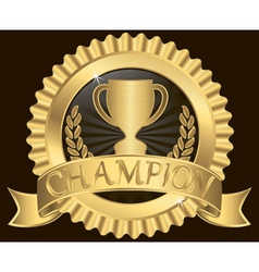 Champion Silk Label vector image