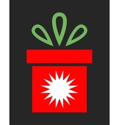 Bright festive gift christmas packing surprise vector