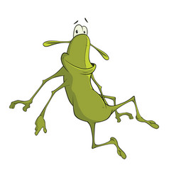 Green cockroach cartoon character vector
