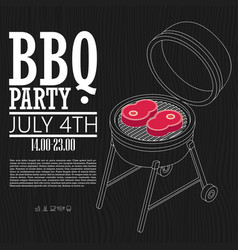 invitation card on the barbecue vector image