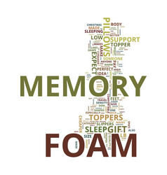 Memory foam the perfect christmas gift idea for vector