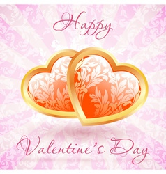 Happy valentines day floral vector