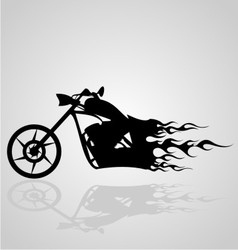 Flaming motorcycle vector