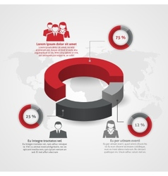 Business team composition infographic vector