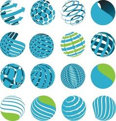 Icons globe vector