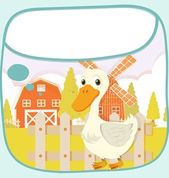 Paper design with duck on the farm vector