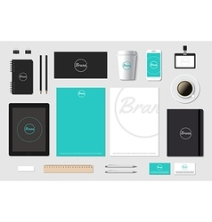 Template mockup for brand presentation on vector