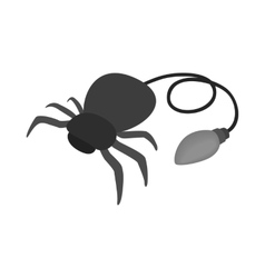 Fake rubber spider icon isometric 3d style vector