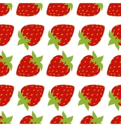 Seamless of red strawberries vector