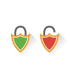 Lock icon in flat style vector