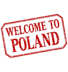 Poland - welcome red vintage isolated label vector