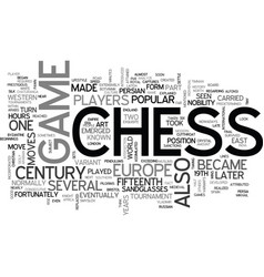 A brief look on the history of chess text word vector