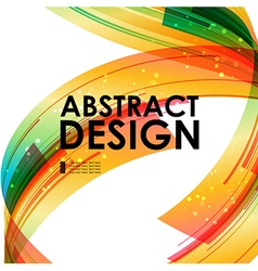 Abstract technology colored background vector image