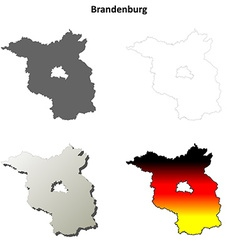 Brandenburg outline map set vector