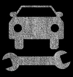 Car repair fabric textured icon vector