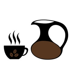 Coffee cup Jug Isolated vector image