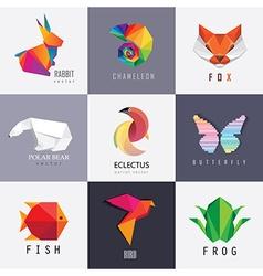 Colorful geometric logo design vector