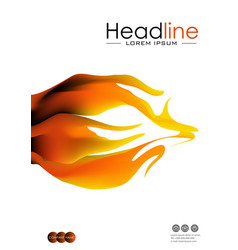 cover design with fire flames in a4 vector image vector image