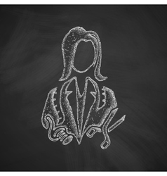 dressmaker icon vector image