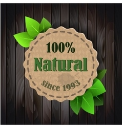 eco friendly paper template banner vector image