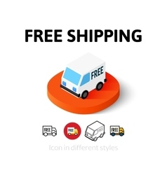 Free shipping icon in different style vector