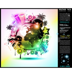 Global Party Poster vector image