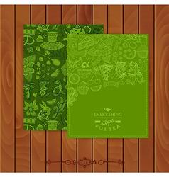 Green tea Branding Design Set of floral cards vector image