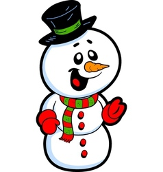 Happy snowman vector