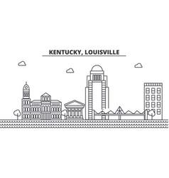 Kentucky louisville architecture line skyline vector