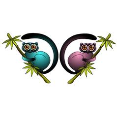 lemurs vector image