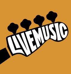 Live music lettering vector
