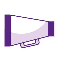 megaphone director isolated icon vector image