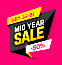 mid year sale banner poster vector image vector image