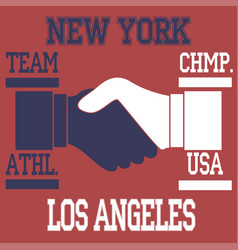 new york - los angeles vector image