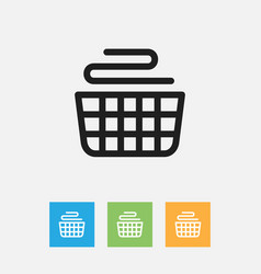 Of cleaning symbol on basket vector