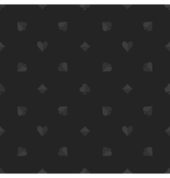 Poker dark seamless pattern vector
