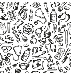 seamless pattern Medical icons and elements of vector image vector image