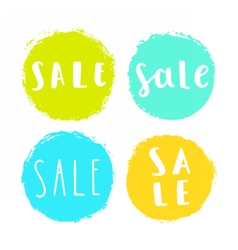 Set of sale badges vector image vector image